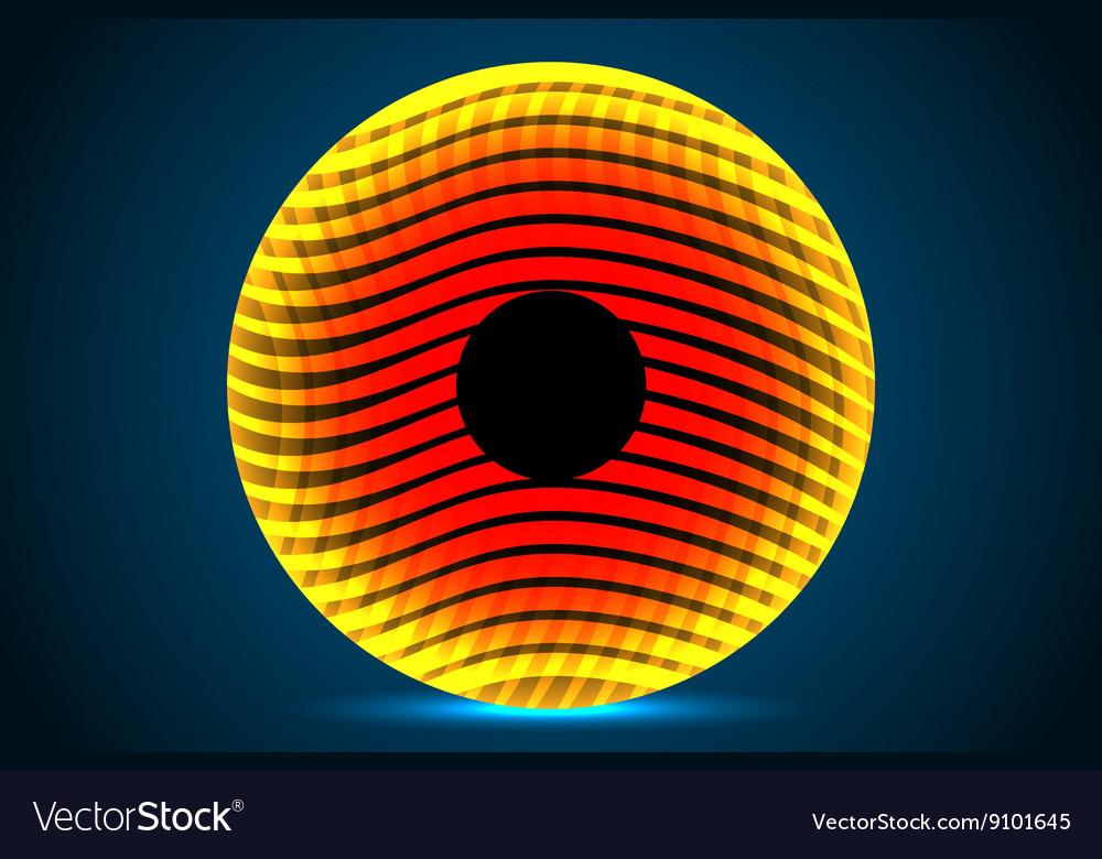 Abstract orange circle