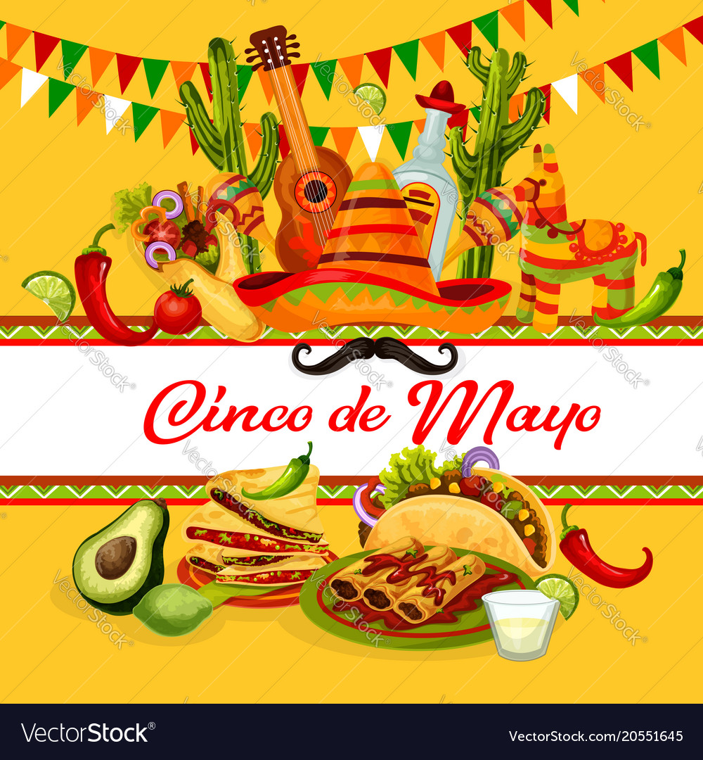 Cinco de mayo mexican holiday greeting card design cinco de mayo mexican holiday greeting card design vector image m4hsunfo