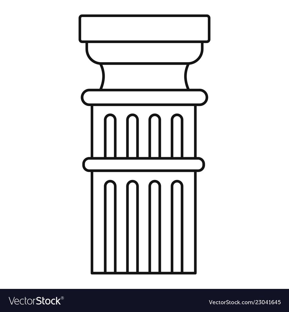 Greek column icon outline style