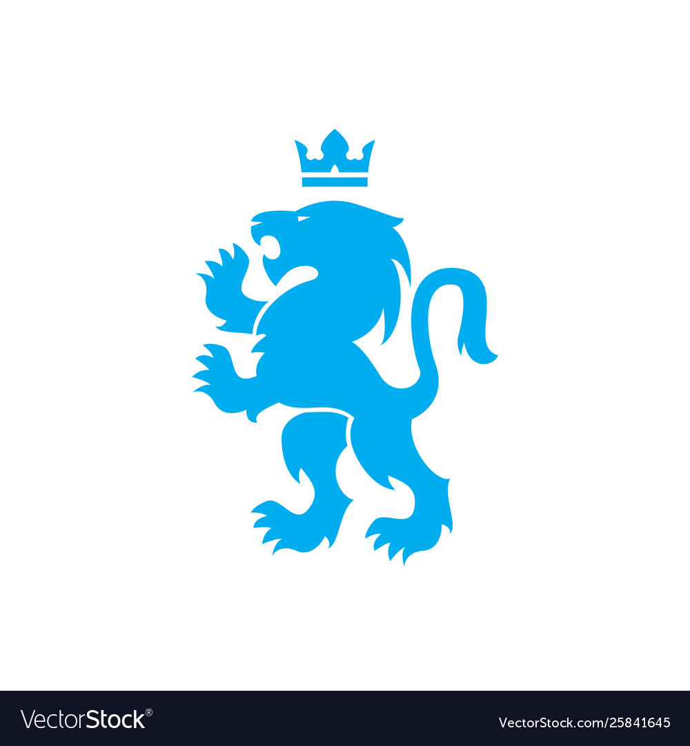 Lion And Crown Heraldic Royal Icon