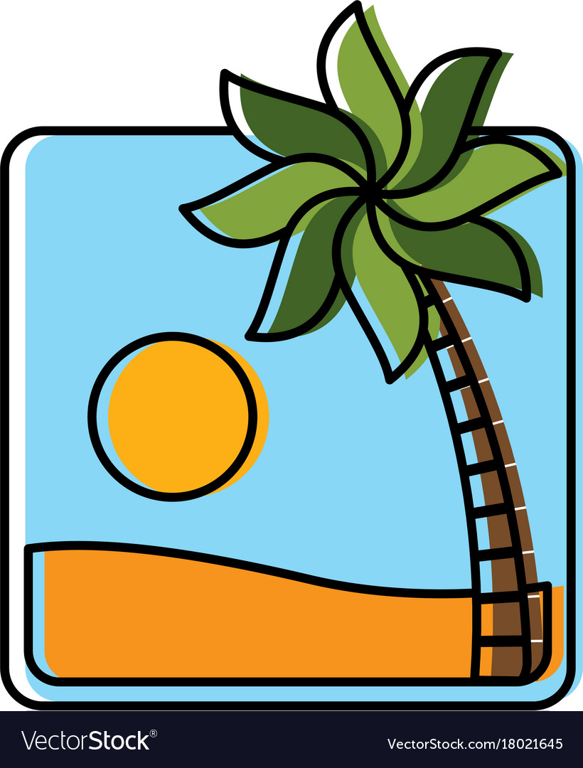 Summer and beach symbol Royalty Free Vector Image