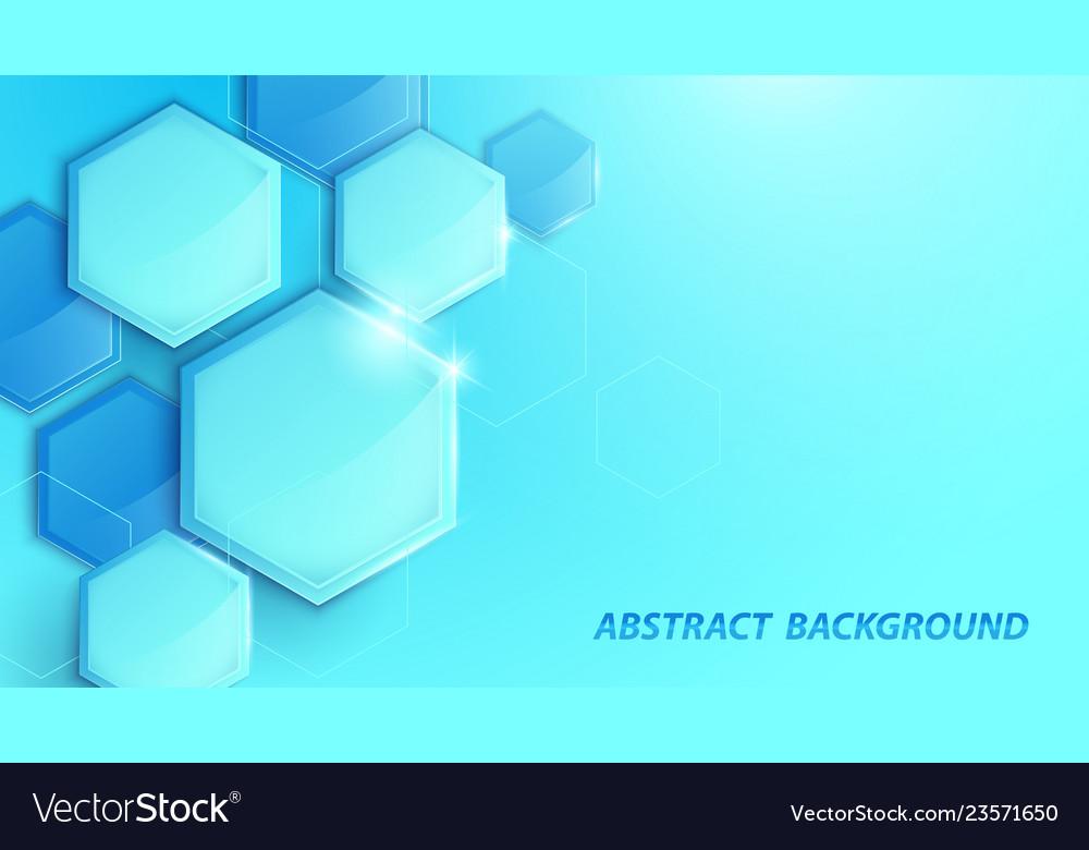 Abstract blue 3d geometric high-tech digital