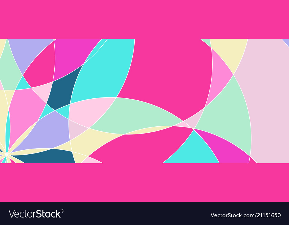 Abstract pattern with multi-colored parts