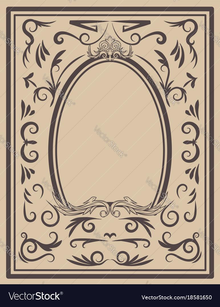 Vintage frame on light background design element