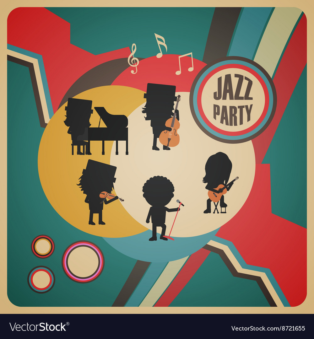 274abstract jazz band poster
