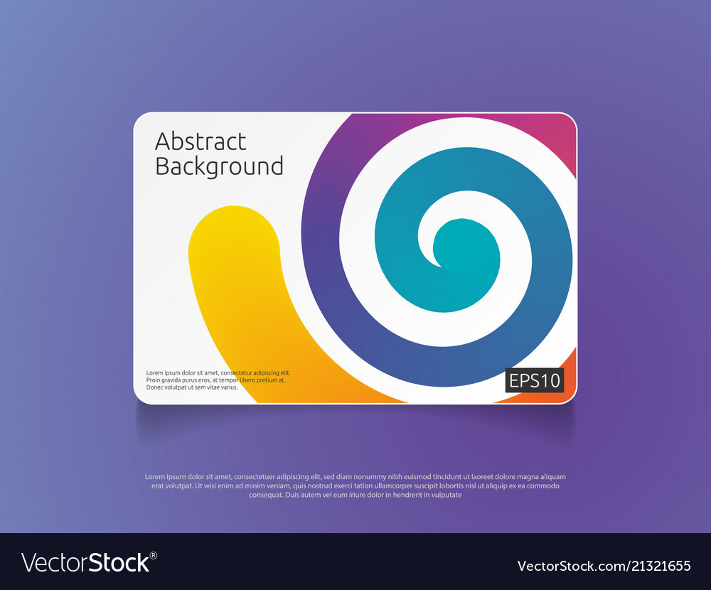 Abstract colorful card or cover template with