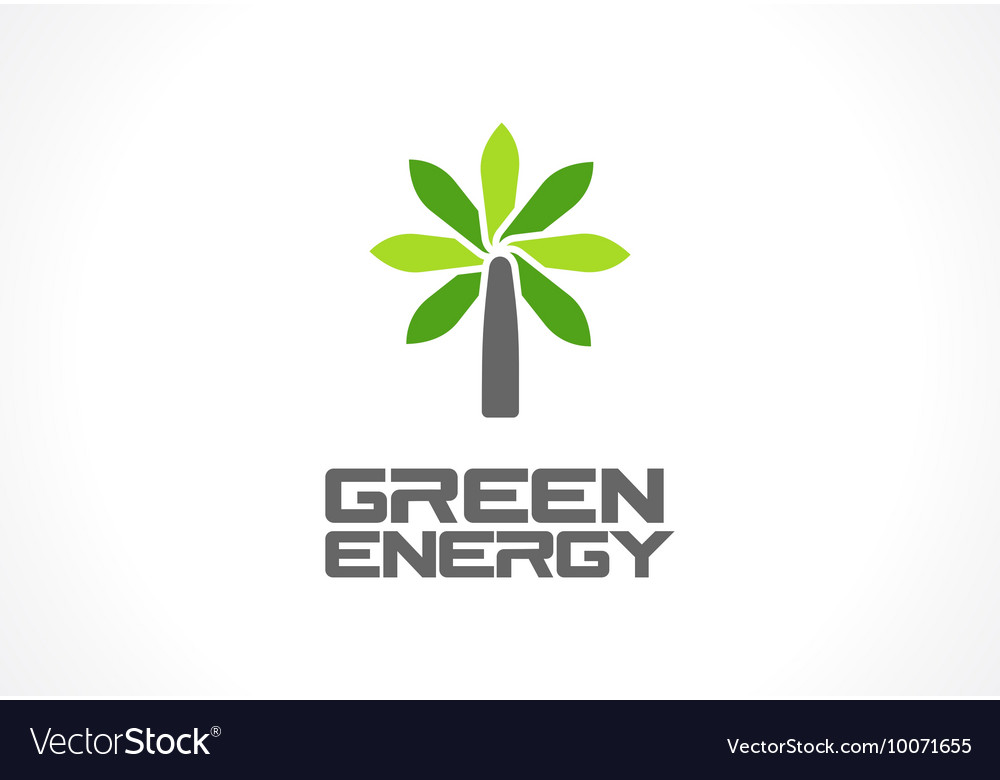 Abstract logo for business company Eco green