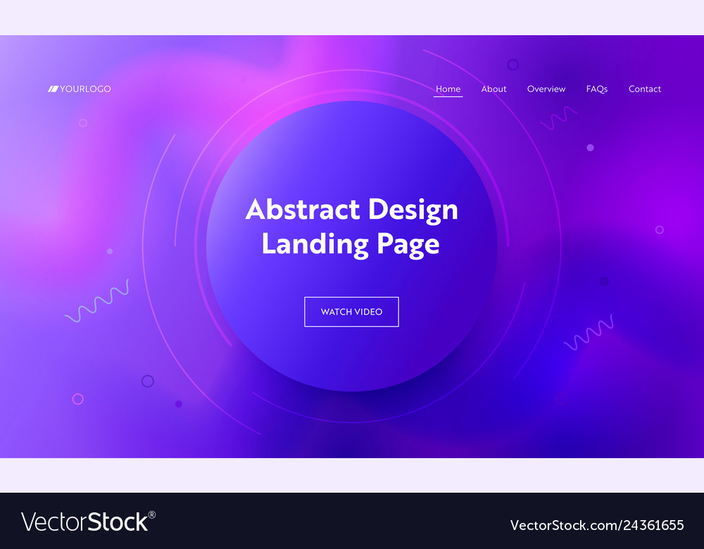 Abstract purple circle landing page background