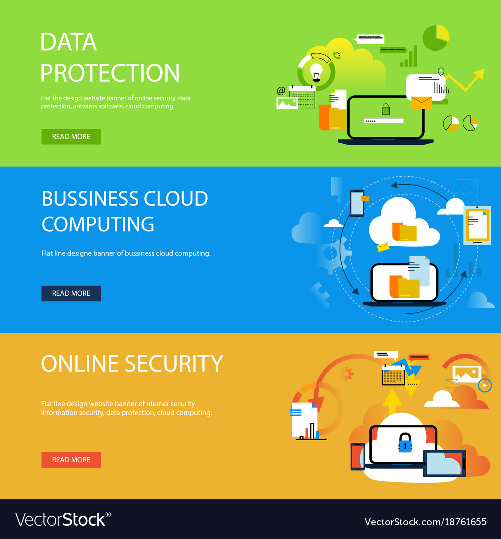 Banner data protection concepts for web and
