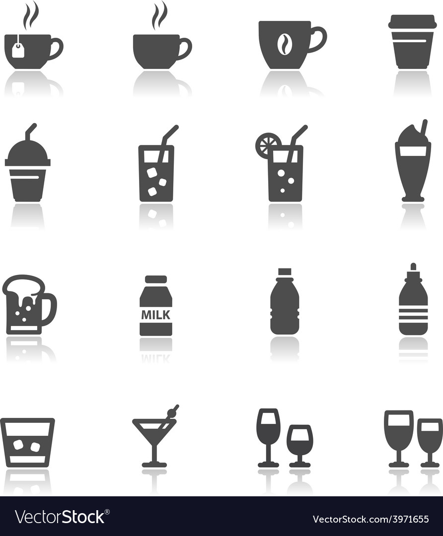 Drink and Beverages vector image