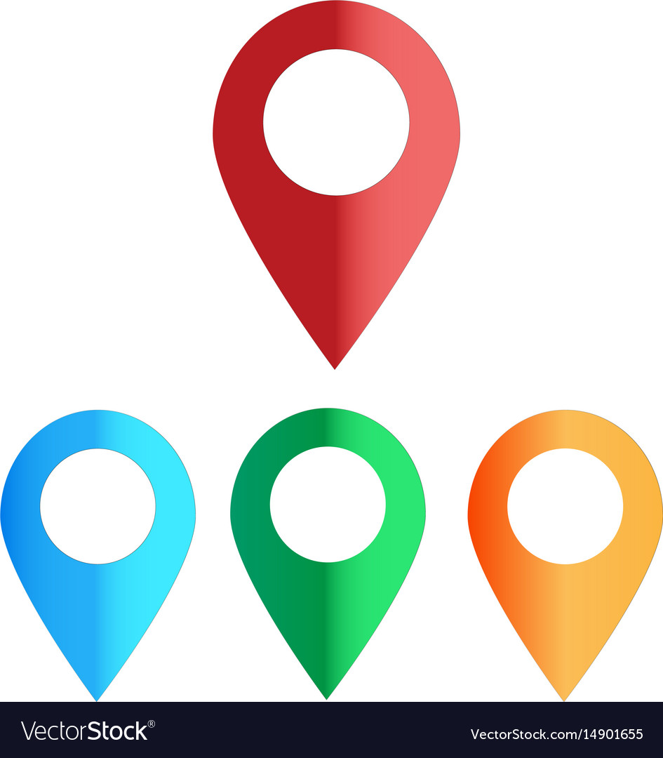Map colors icon on white background map color