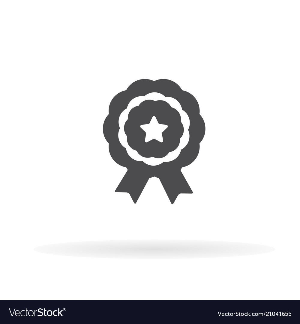 Medal icon for web business finance and