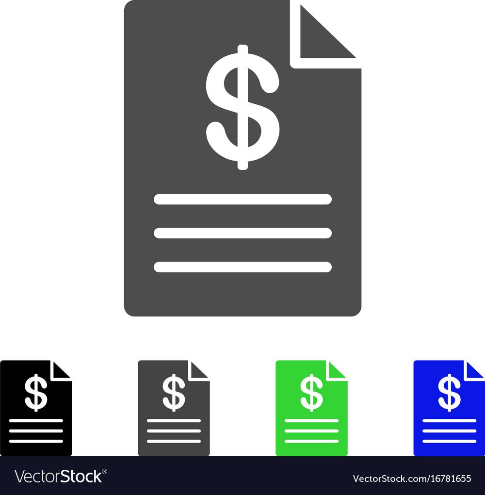 Price list flat icon vector image