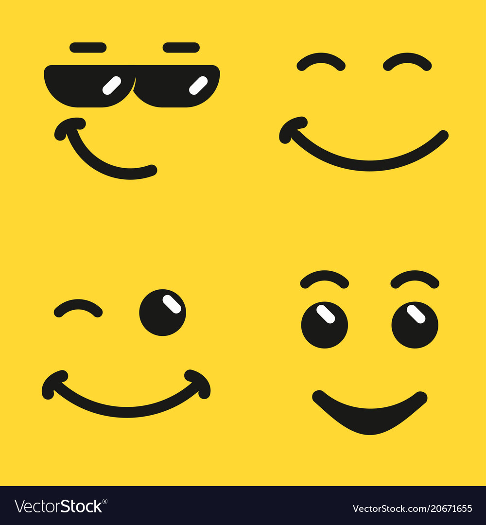Smiling face emoji vector image