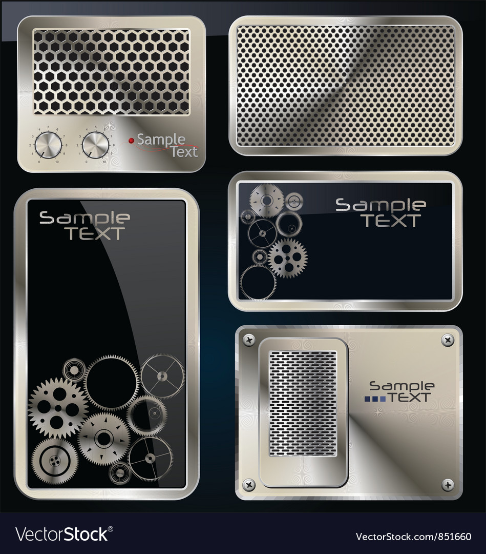 Abstract technology background set vector image