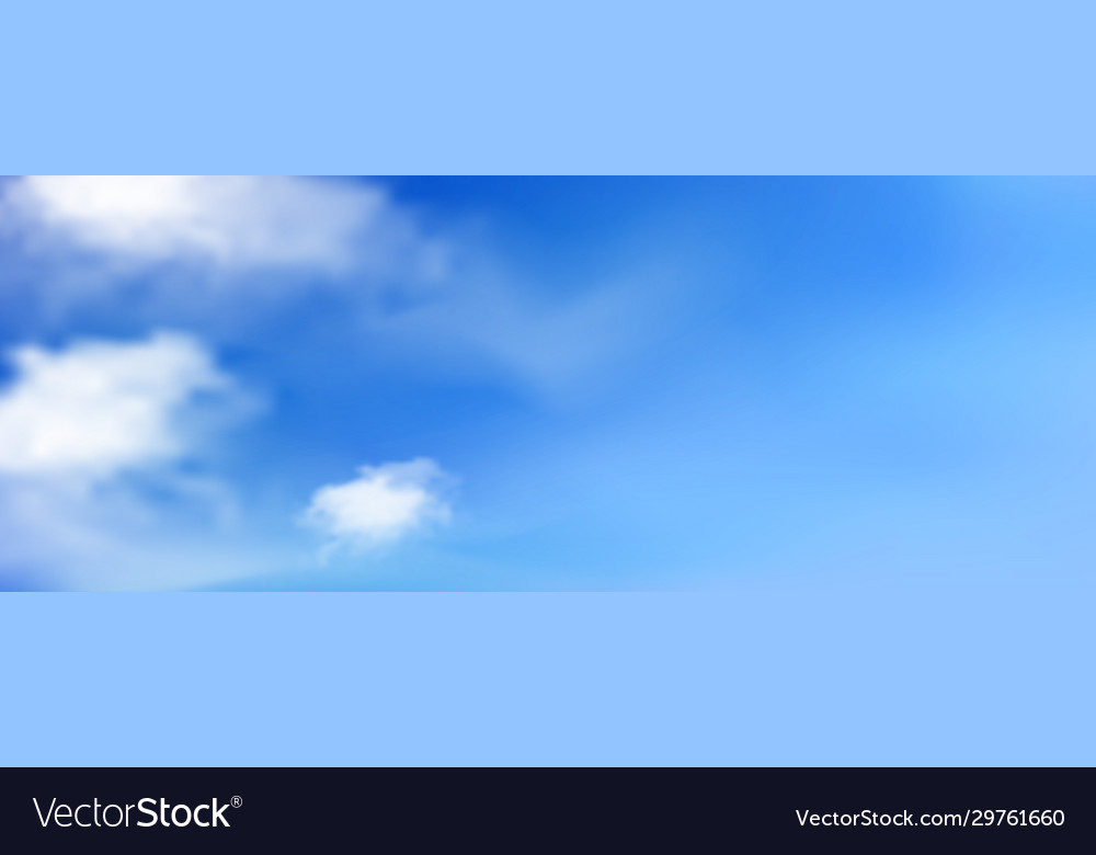 Blue sunny sky with white clouds landscape