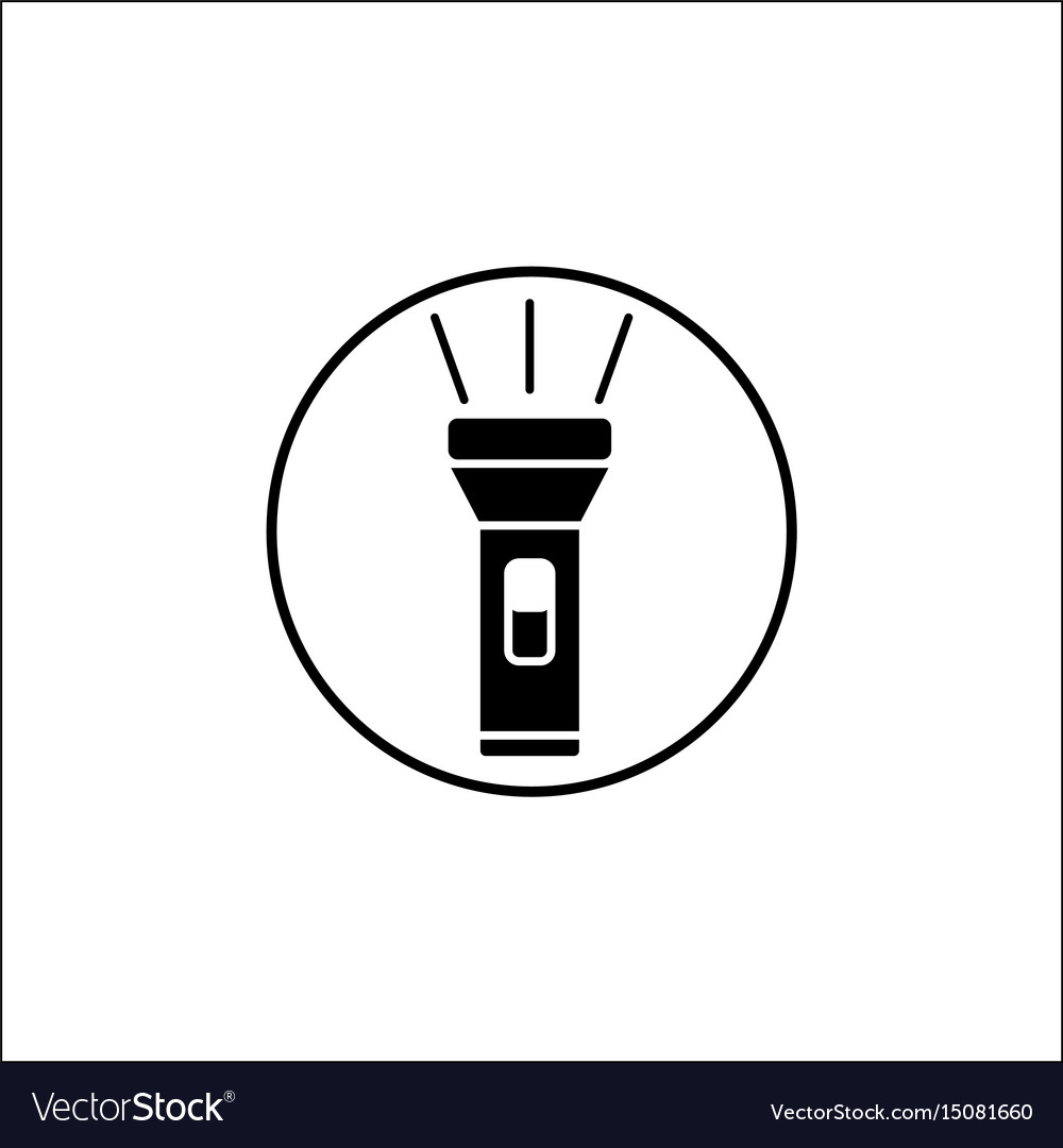 Flashlight solid icon mobile sign