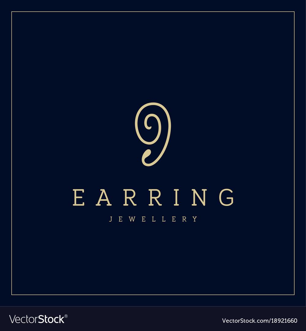 Jewellery company logo jewelry icon vector image