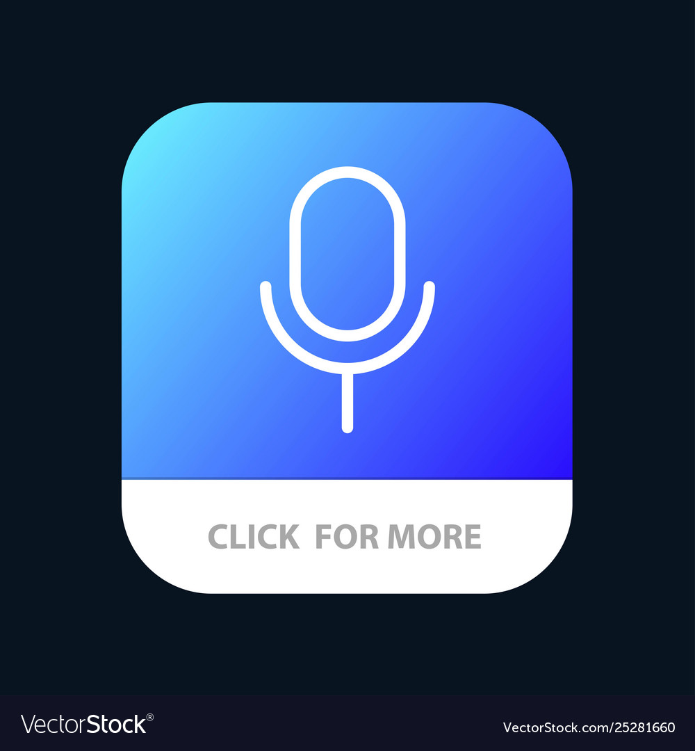 Mic microphone basic ui mobile app button android