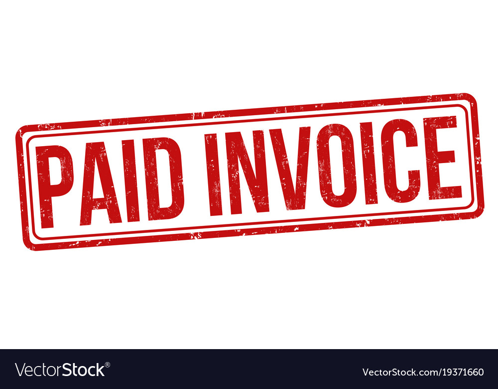 paid invoice grunge rubber stamp royalty free vector image