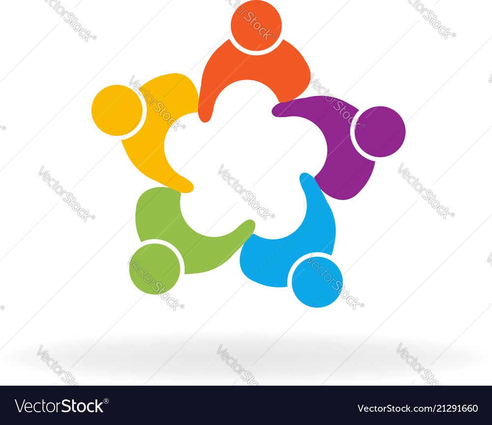 People teamwork friend group