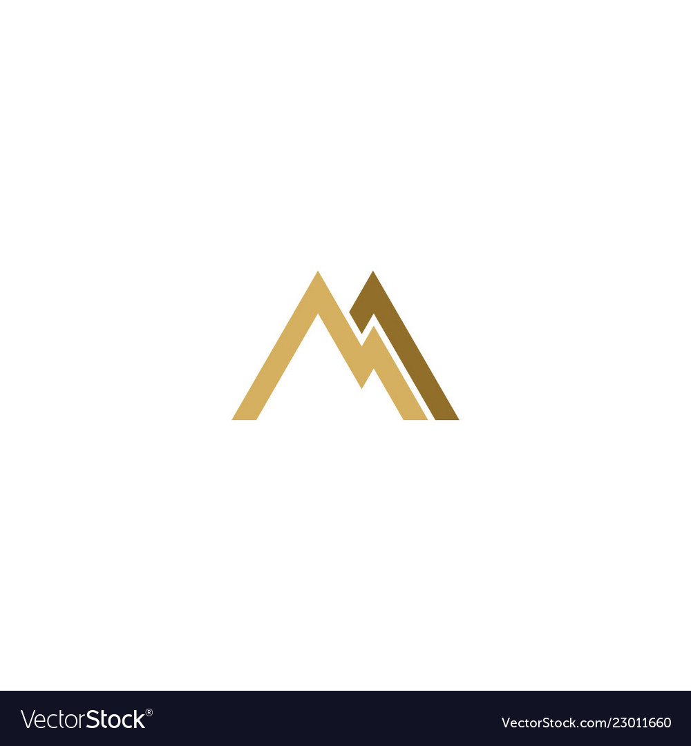 Shape line triangle mountain abstract logo
