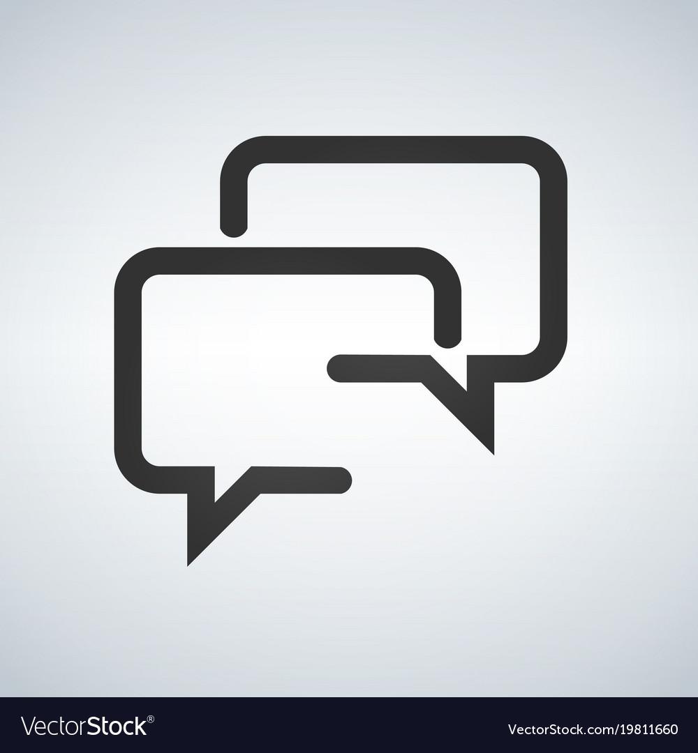 Speech squares line icon vector image