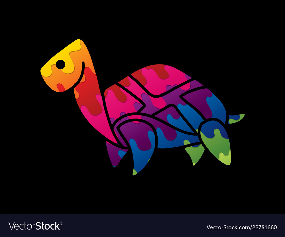 Turtle cartoon graphic