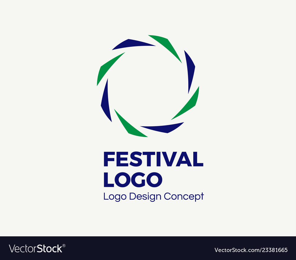 Abstract circular dynamic logo round shape icon