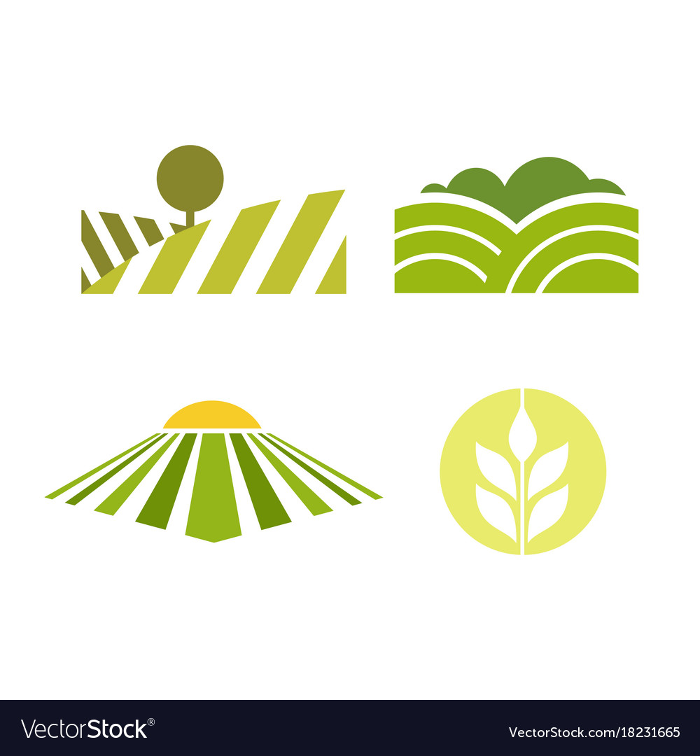 Abstract colored agriculture logotype isolated on