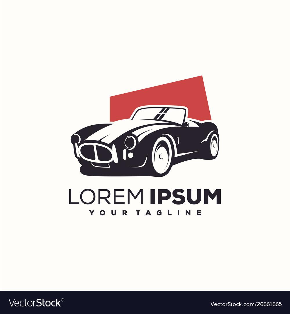Awesome Vintage Car Logo Design Royalty Free Vector Image
