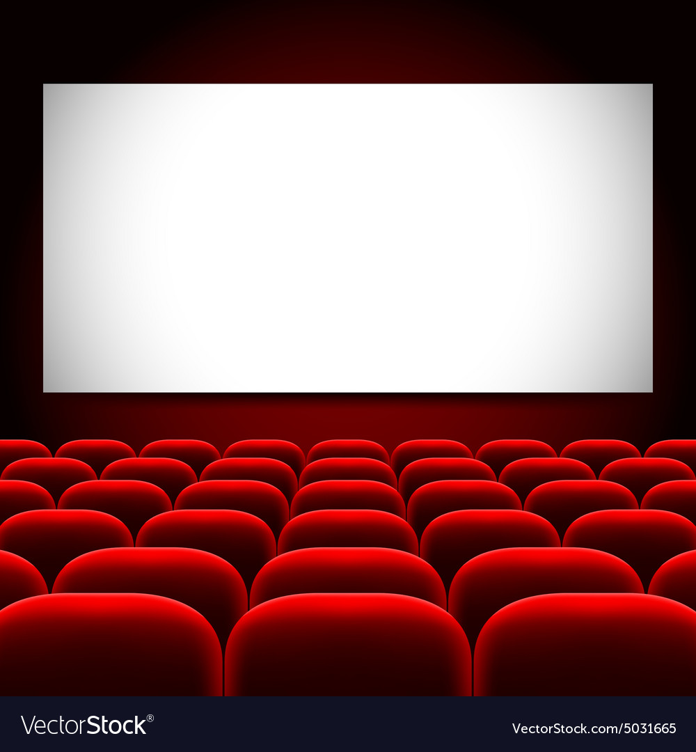 Cinema Screen And Red Seats Background Royalty Free Vector