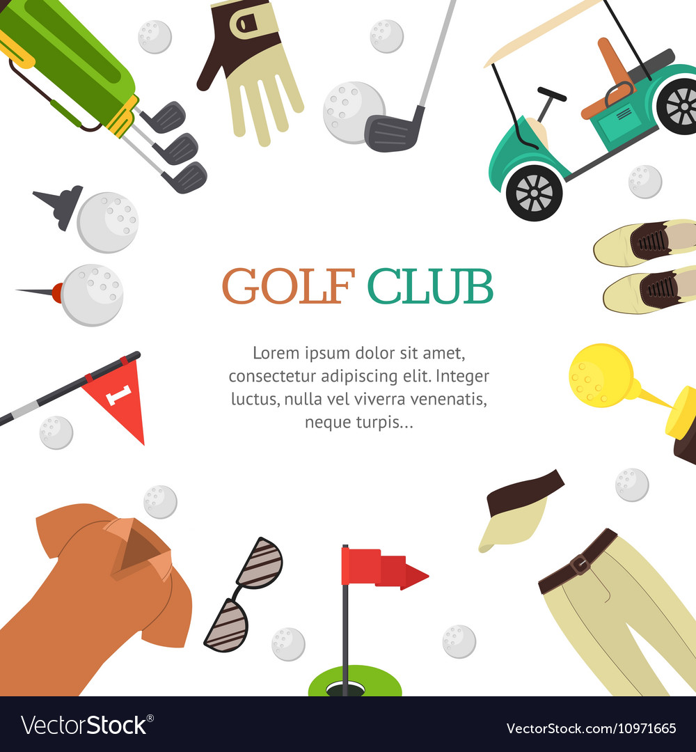 Golf Club Banner Flat Design Style