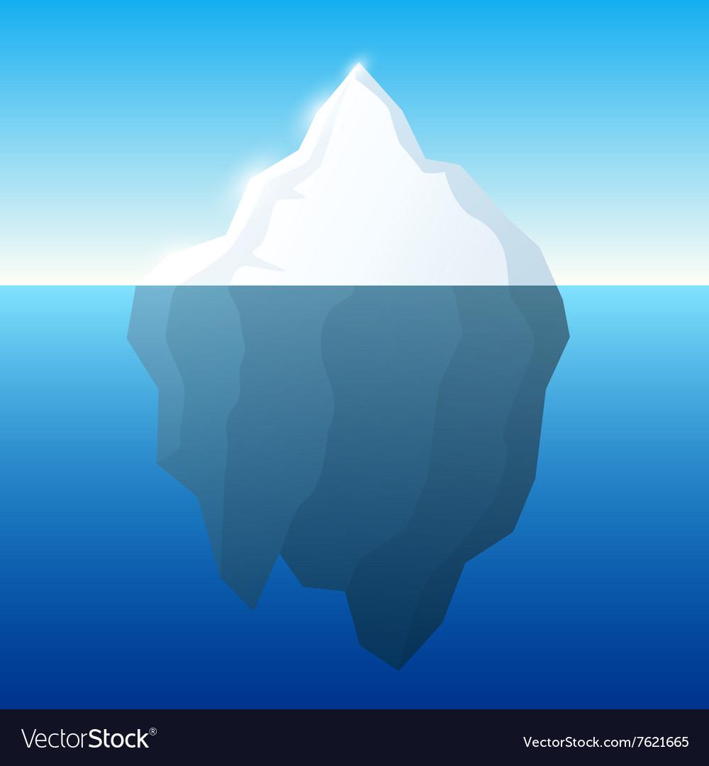 Iceberg and background Iceberg on