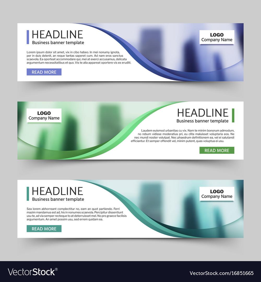 Website horizontal business banners