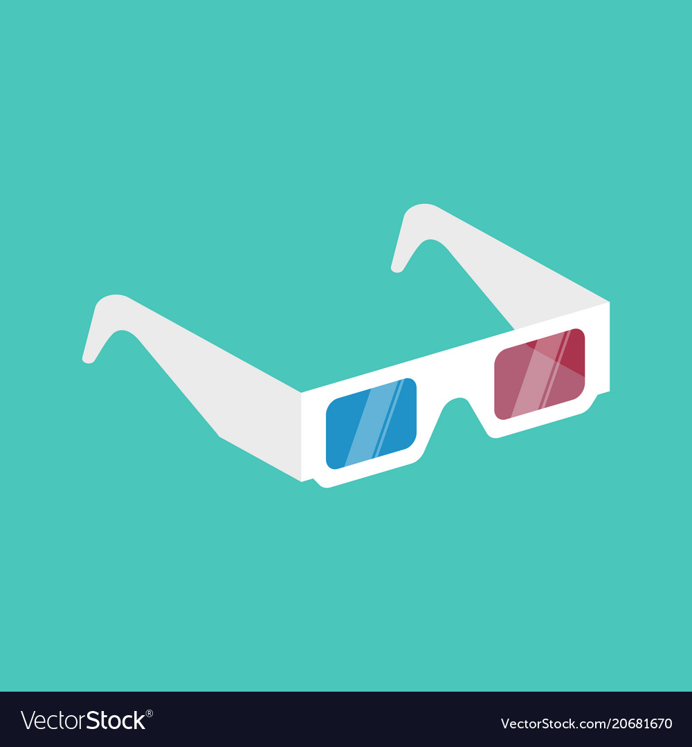 3d cinema glasses isometric