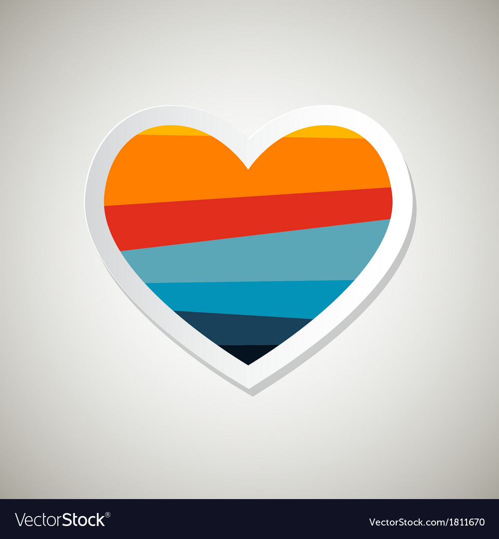 Abstract Paper Retro Heart Symbol