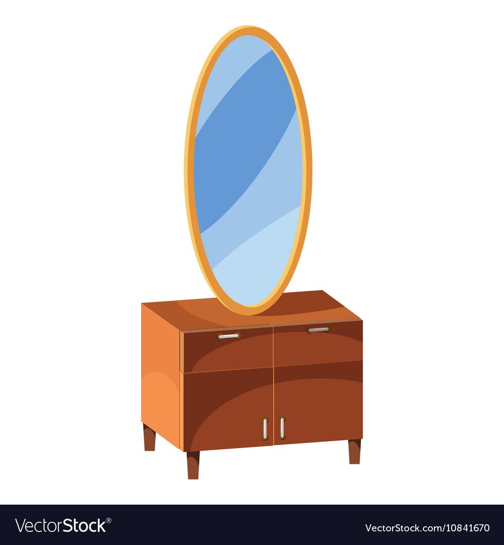 Mirror Icon Cartoon Style Vector Image