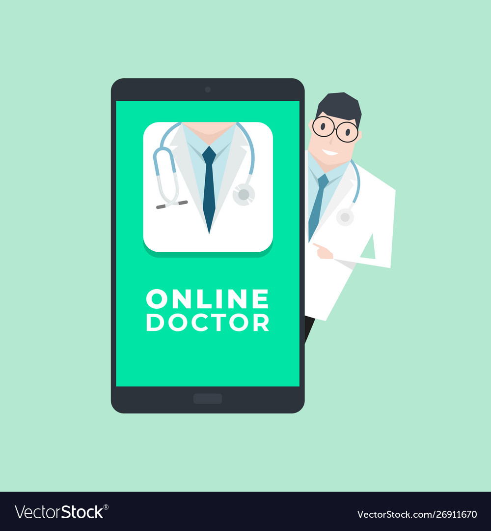 Doctor with mobile application
