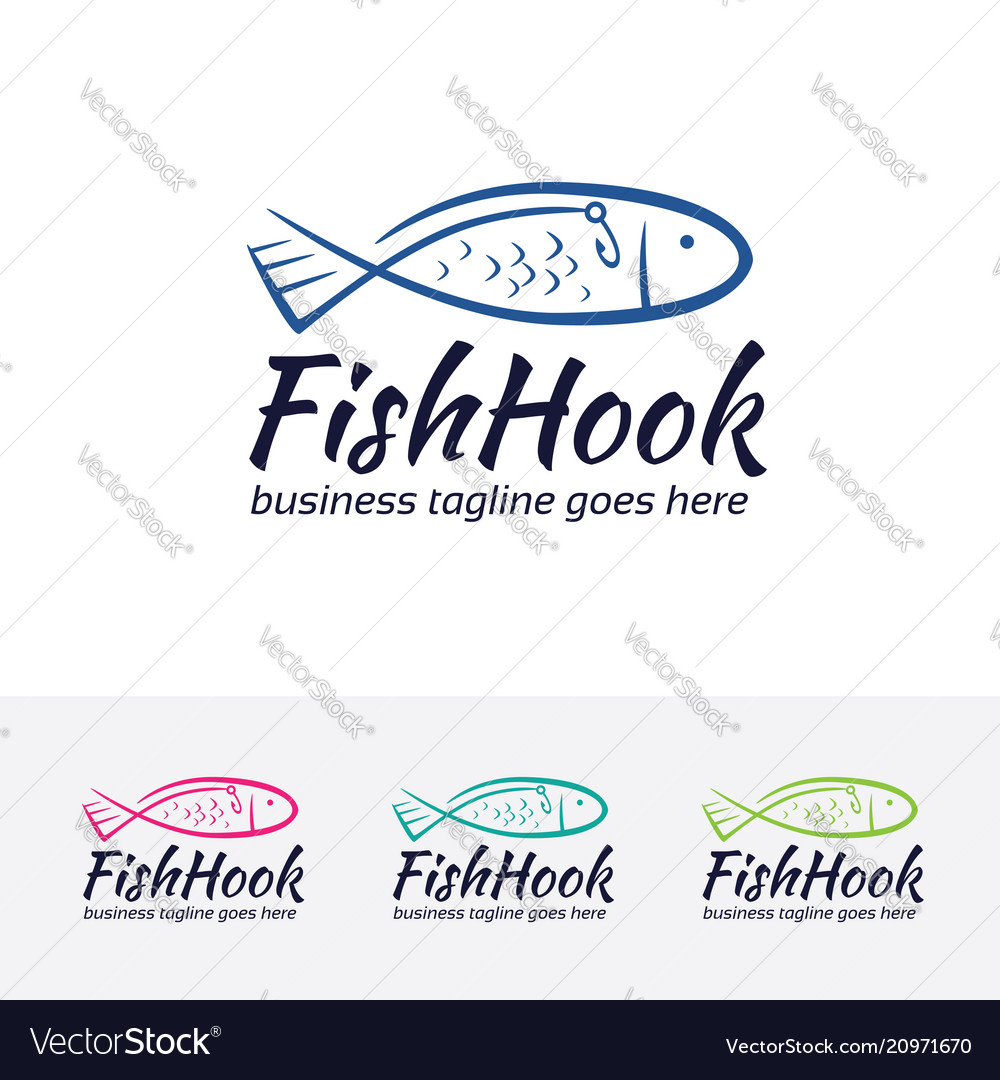 Fish hook logo design