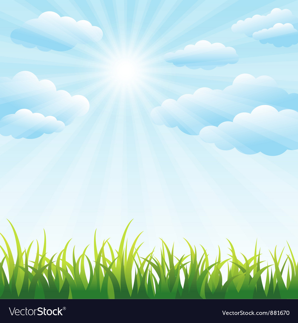 green grass field and blue sky royalty free vector image rh vectorstock com sky vector maps sky vector 24