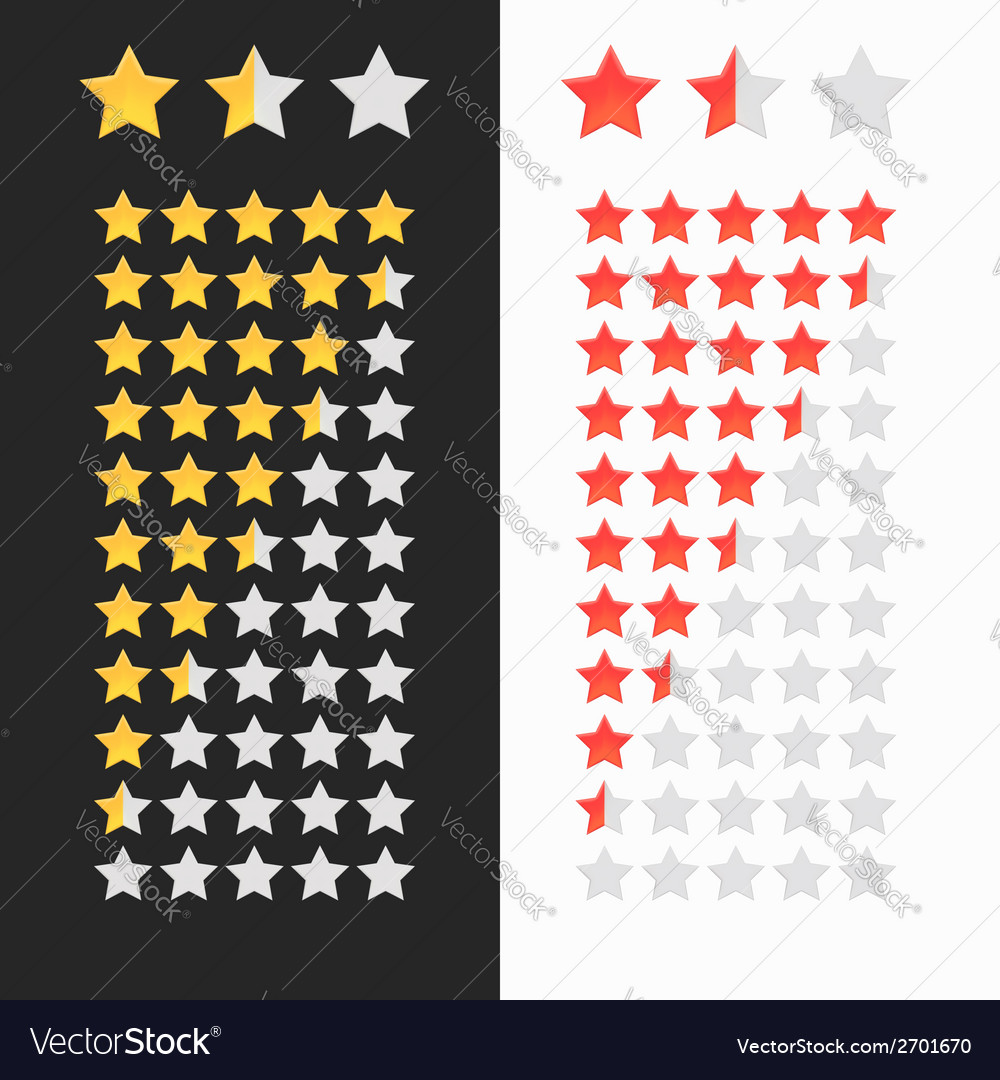 Rating stars isolated