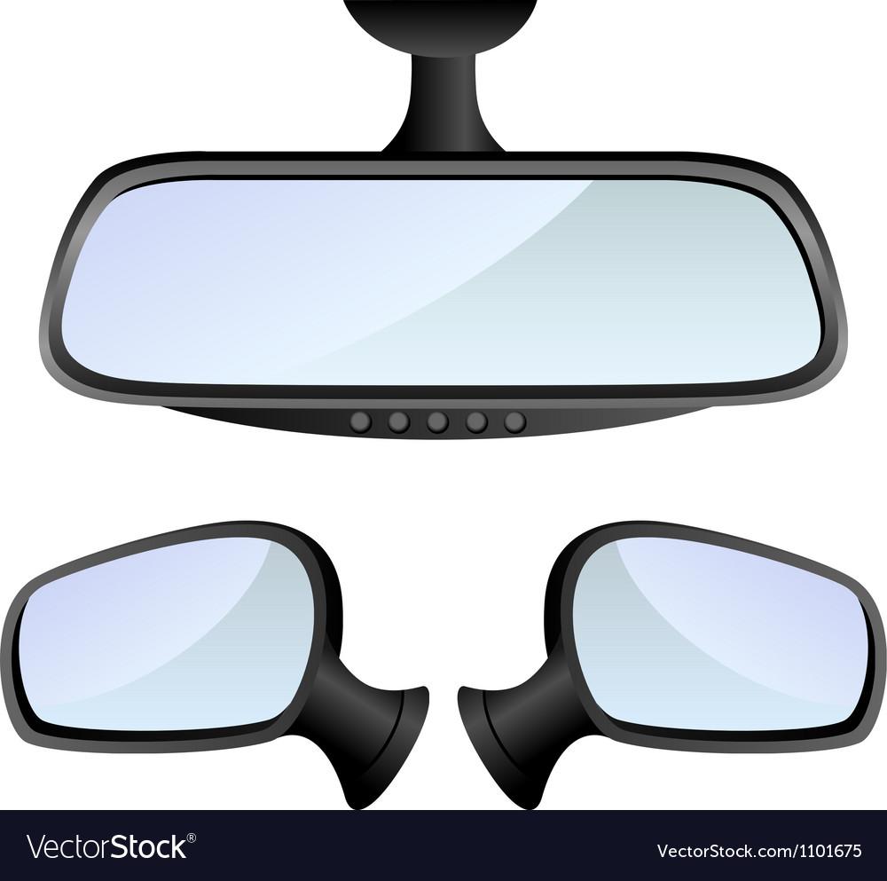 Car mirror set vector image