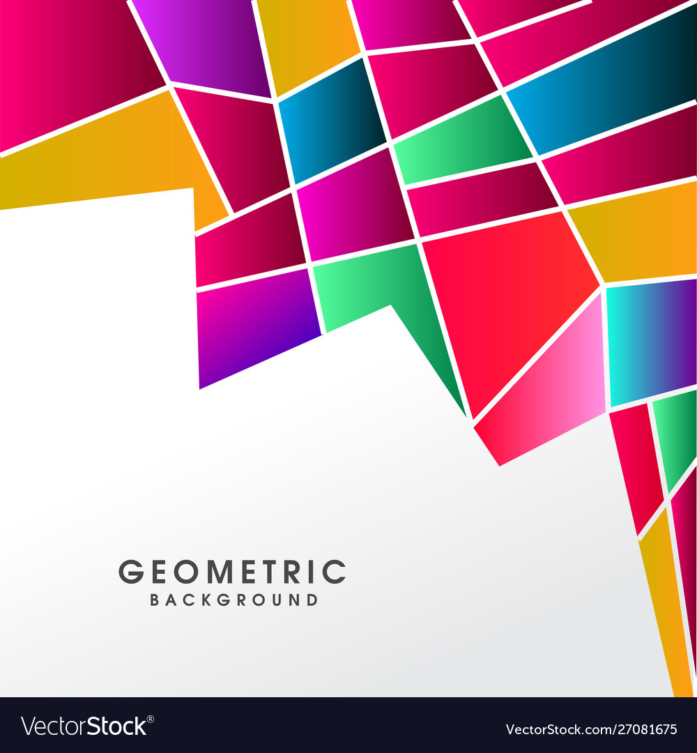 Colorful abstract polygonal background