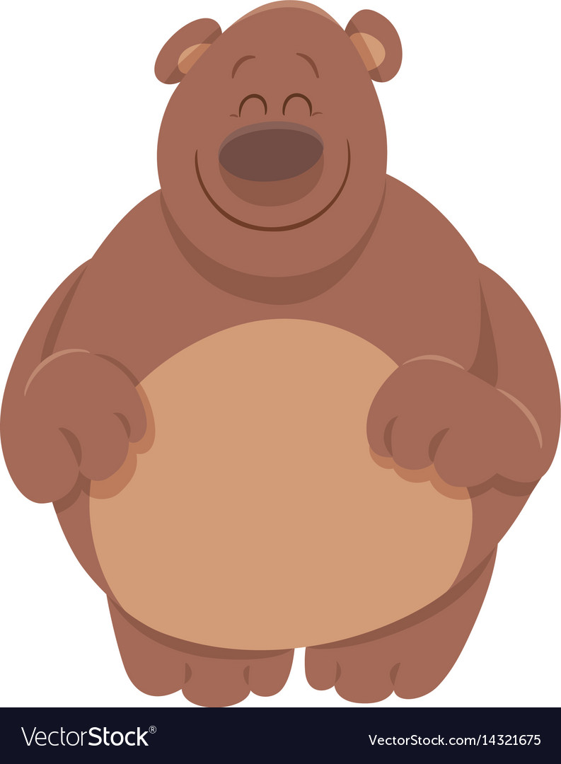 Cute bear cartoon animal vector image