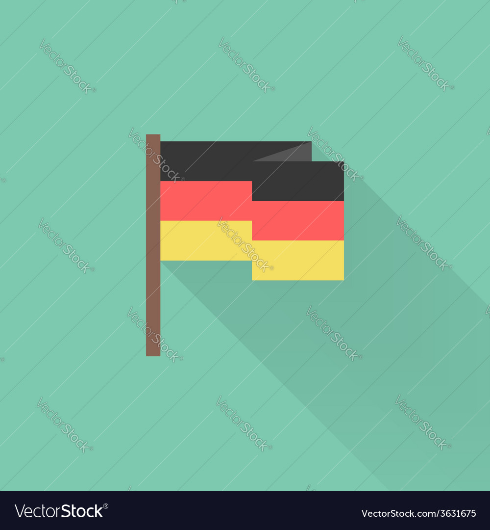 Flat Germany flag with long shadow