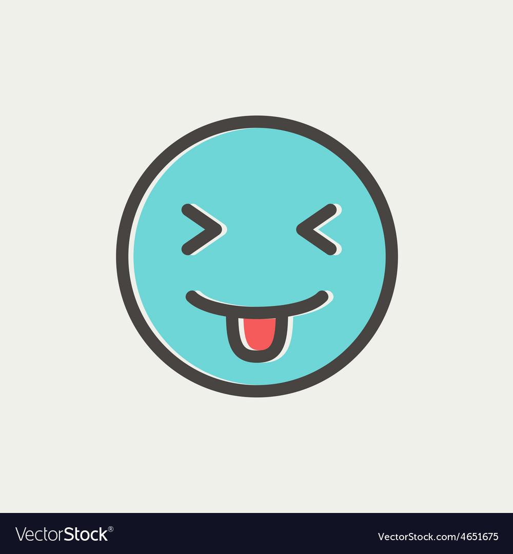 Funny thin line icon vector image