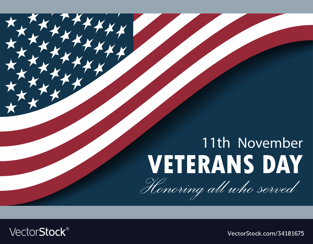 Happy veterans day greeting card