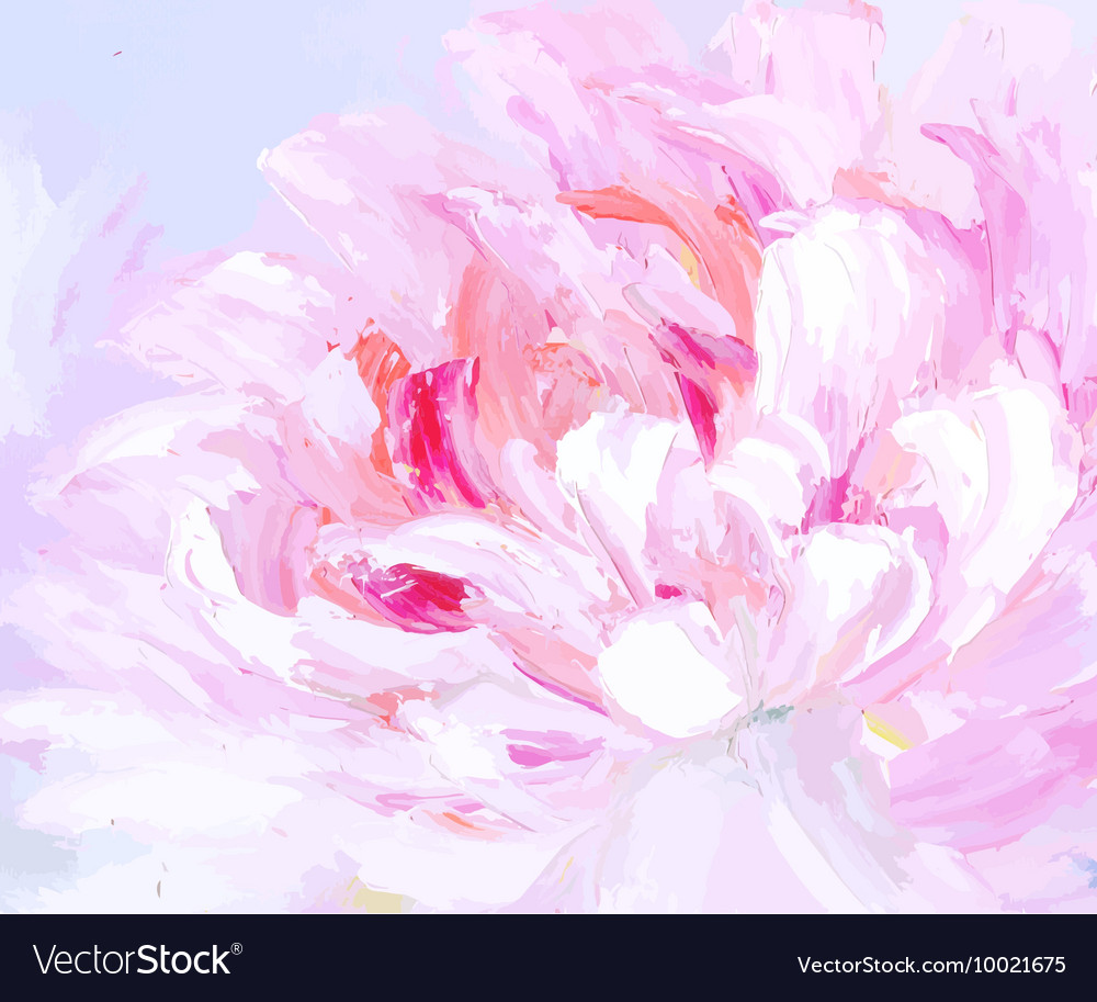 Original abstract hand drawn oil painting vector image