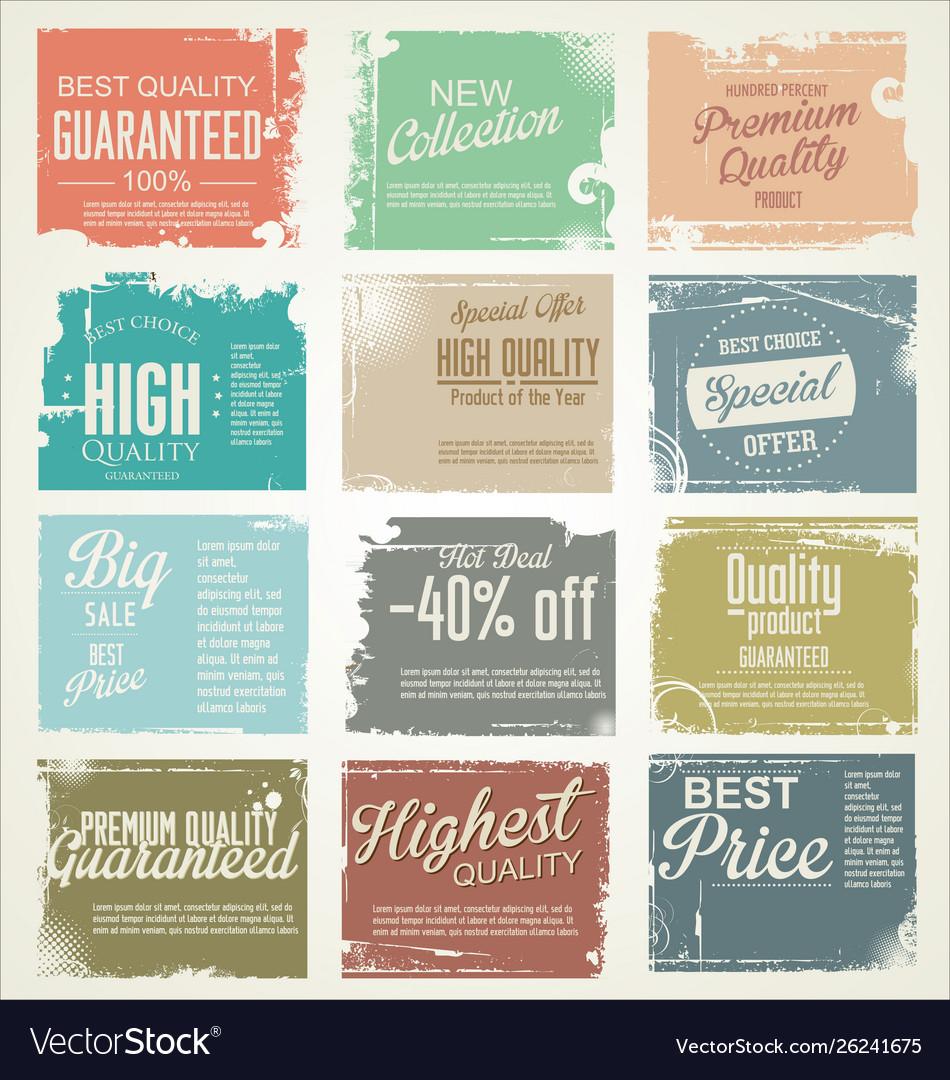 Premium best choice grunge banner collection